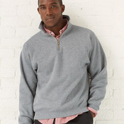 4528MR Adult Quarter-Zip Cadet Collar Sweatshirt