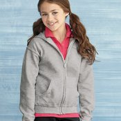 18600B Youth Heavy Blend™ Full-Zip Hooded Sweatshirt